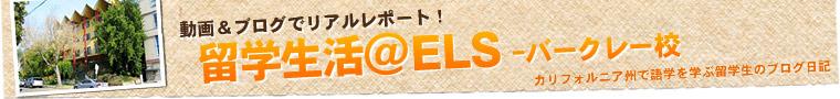 留学生ブログ ELSバークレー